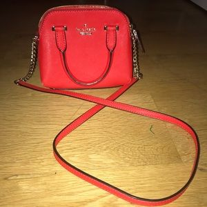 adorable red kate spade purse